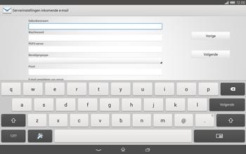 Sony Xperia Tablet Z2 4G (SGP521) - E-mail - Handmatig instellen - Stap 9