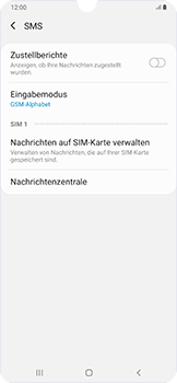 Samsung Galaxy A50 - SMS - Manuelle Konfiguration - Schritt 11
