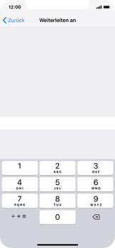 Apple iPhone XS - Anrufe - Rufumleitungen setzen und löschen - 7 / 9