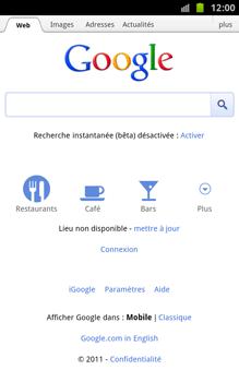 Samsung N7000 Galaxy Note - Internet - navigation sur Internet - Étape 4