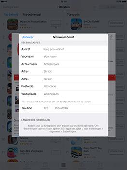Apple ipad-pro-9-7-inch-met-ios10-model-a1674 - Applicaties - Account aanmaken - Stap 19