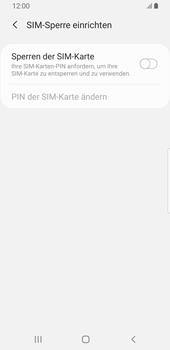 Samsung Galaxy S9 - Android Pie - Startanleitung - So aktivieren Sie eine SIM-PIN - Schritt 7