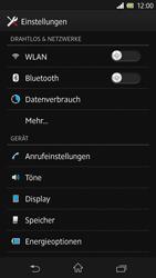 Sony Xperia Z - Internet und Datenroaming - Prüfen, ob Datenkonnektivität aktiviert ist - Schritt 4