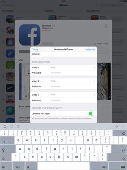 Apple iPad Pro 12.9 inch (2nd generation) - Applicaties - Account aanmaken - Stap 13