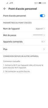Huawei P40 Lite 5G - Internet et connexion - Partager votre connexion en Wi-Fi - Étape 10