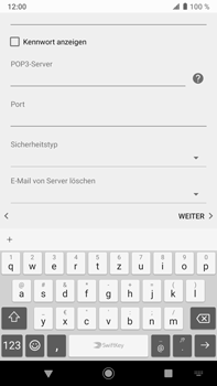 Sony Xperia XZ2 Premium - Android Pie - E-Mail - Konto einrichten - Schritt 12