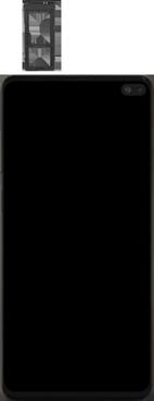 Samsung galaxy-s10-plus-dual-sim-sm-g975f - Instellingen aanpassen - SIM-Kaart plaatsen - Stap 3