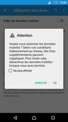 Sony Xperia Z5 - Internet et roaming de données - Comment vérifier que la connexion des données est activée - Étape 6