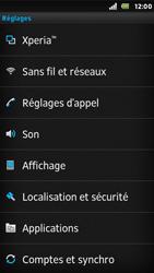 Sony ST25i Xperia U - Messagerie vocale - Configuration manuelle - Étape 4
