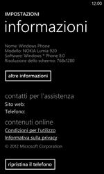 Nokia Lumia 820 / Lumia 920 - Dispositivo - Ripristino delle impostazioni originali - Fase 6