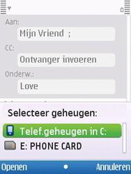 Nokia 6700 slide - e-mail - hoe te versturen - stap 9