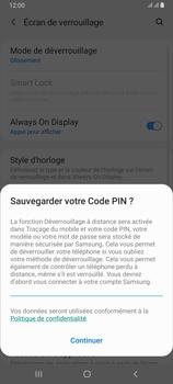 Samsung Galaxy A80 - Sécuriser votre mobile - Activer le code de verrouillage - Étape 12