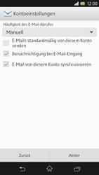 Sony Xperia Z - E-Mail - Konto einrichten - Schritt 12
