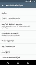 Sony Xperia X - Anrufe - Rufumleitungen setzen und löschen - 5 / 9
