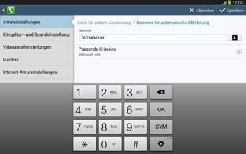 Samsung Galaxy Tab 3 10-1 LTE - Anrufe - Anrufe blockieren - 12 / 14