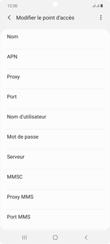 Samsung Galaxy Note 20 5G - MMS - Configuration manuelle - Étape 10