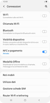 Samsung Galaxy Note9 - Android Pie - Rete - Come attivare la connessione di rete 4G - Fase 5