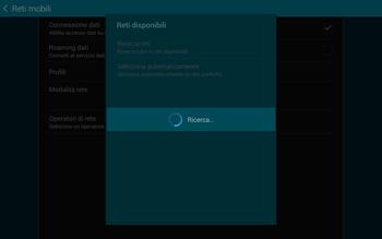 Samsung T805 Galaxy Tab S - Rete - Selezione manuale della rete - Fase 8