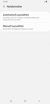 Samsung Galaxy S9 Plus - Android Pie - Netzwerk - Manuelle Netzwerkwahl - Schritt 7