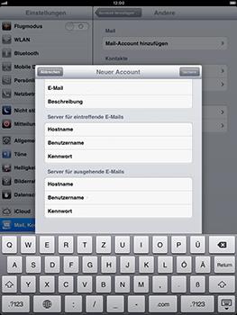 Apple iPad mini - E-Mail - Konto einrichten - 2 / 2