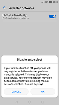 Huawei P10 Plus - Network - Manual network selection - Step 7