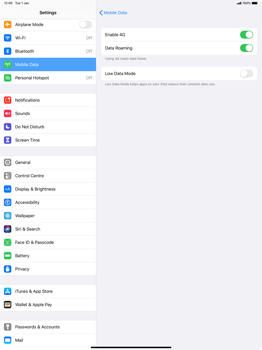 Apple iPad Pro 12.9 (1st gen) - ipados 13 - Internet and data roaming - Disabling data roaming - Step 5