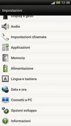 HTC One S - Dispositivo - Ripristino delle impostazioni originali - Fase 6