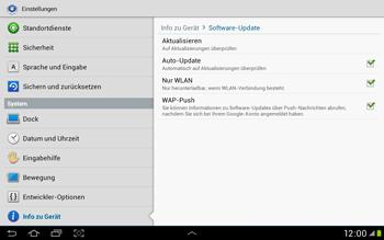 Samsung Galaxy Tab 2 10.1 - Software - Installieren von Software-Updates - Schritt 7