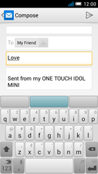 Alcatel OT-6012X Idol Mini - Email - Sending an email message - Step 8