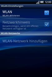 Sony Ericsson Xperia X8 - WLAN - Manuelle Konfiguration - 6 / 10