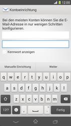 Sony Xperia Z1 Compact - E-Mail - Konto einrichten - 2 / 2