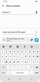 Samsung Galaxy S9 Android Pie - MMS - afbeeldingen verzenden - Stap 13
