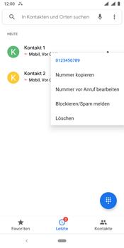 Nokia 9 - Anrufe - Anrufe blockieren - Schritt 6