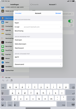Apple iPad Pro 11 inch 2nd generation (2020) (Model A2230) - E-mail - Instellingen KPNMail controleren - Stap 9