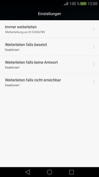 Huawei Mate S - Anrufe - Rufumleitungen setzen und löschen - Schritt 8