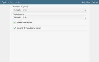 Samsung T805 Galaxy Tab S - E-mail - configuration manuelle - Étape 17