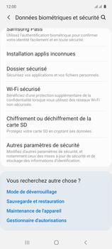 Samsung Galaxy A71 - Sécuriser votre mobile - Personnaliser le code PIN de votre carte SIM - Étape 5