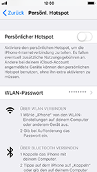 Apple iPhone 5s - Internet - Mobilen WLAN-Hotspot einrichten - 7 / 9