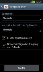 Samsung Galaxy Trend Lite - E-Mail - Manuelle Konfiguration - Schritt 16