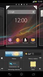 Sony Xperia V - Operazioni iniziali - Installazione di widget e applicazioni nella schermata iniziale - Fase 4