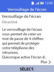 Alcatel 3088X - Sécuriser votre mobile - Activer le code de verrouillage - Étape 5