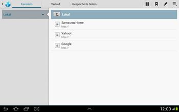 Samsung Galaxy Tab 2 10.1 - Internet und Datenroaming - Verwenden des Internets - Schritt 8