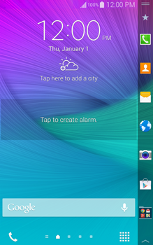 Samsung Galaxy Note Edge - Getting started - Installing widgets and applications on your start screen - Step 7