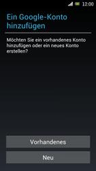 Sony Ericsson Xperia Ray mit OS 4 ICS - Apps - Konto anlegen und einrichten - Schritt 4