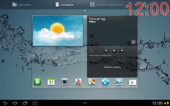 Samsung Galaxy Tab 2 10.1 - Operazioni iniziali - Installazione di widget e applicazioni nella schermata iniziale - Fase 9