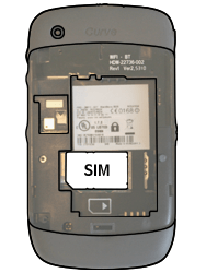 BlackBerry 8520 Curve - SIM-Karte - Einlegen - Schritt 3