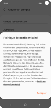 Samsung Galaxy S10e - E-mail - 032c. Email wizard - Outlook - Étape 13