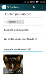 Huawei Y3 - E-Mail - E-Mail versenden - 18 / 20