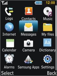 Samsung C3350 Xcover 2 - E-mail - Sending emails - Step 3