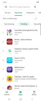 Samsung Galaxy Z flip - Applications - Installing applications - Step 11